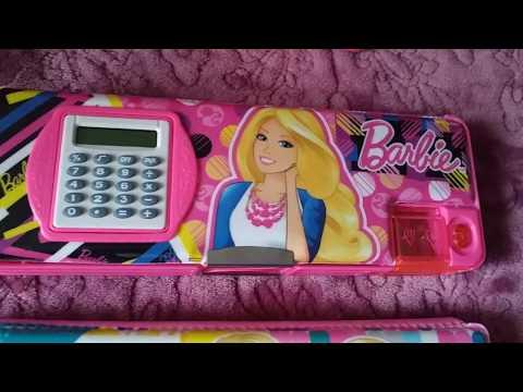 Taobao: Школьные пеналы Барби: на магните/на молнии/с калькулятором