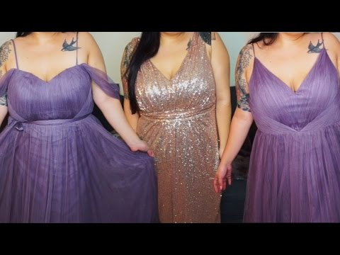 Plus size Bridesmaid Dress Try-ON feat. Revelry | Marcia Gets Married!