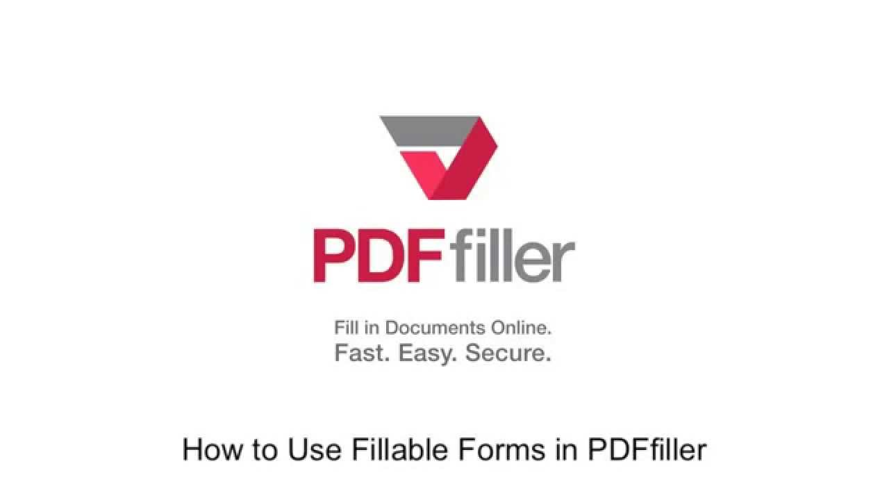 How to Use Fillable Forms in PDFfiller - Video Tutorials | PDFfiller