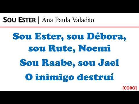 Sou Ester | Playback/Vídeo Letra para Duetos e Solos