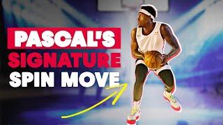 star de la NBA décompose son mouvement de signature   Le mouvement de rotation de Pascal Siakam