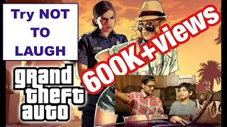 Desi Dad Tries Out GTA for the First Time - Very Funny!!!