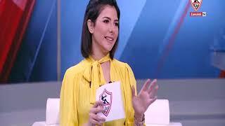 نيرفانا العبد تستضيف كابتن جمال حمزة نجم نادي الزمالك في إفتتاح قناة نادي الزمالك