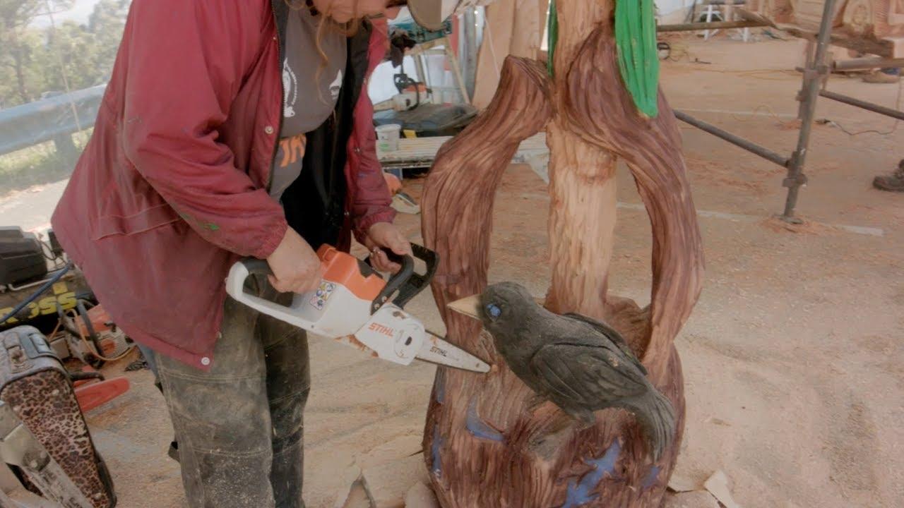 Angie polglaze australian chainsaw carving championship