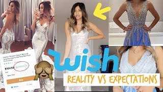 WISH PROM DRESS TRY ON UNBOXING - CHEAP FORMAL DRESSES