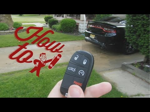 How To Change Out A Dodge Charger Key Fob Battery Replacement Youtube