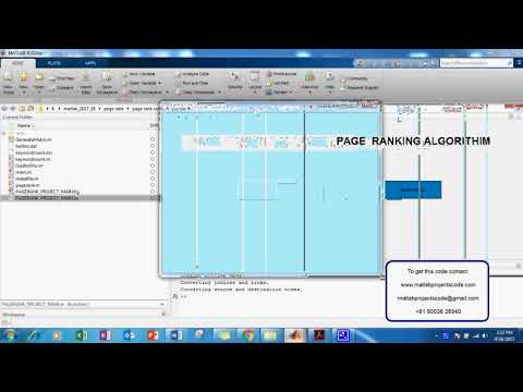 PAGE RANKING ALGORITHM MATLAB PROJECTS CODE