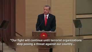president erdoğan strongly reaffirms turkey s committment to end pkk terror