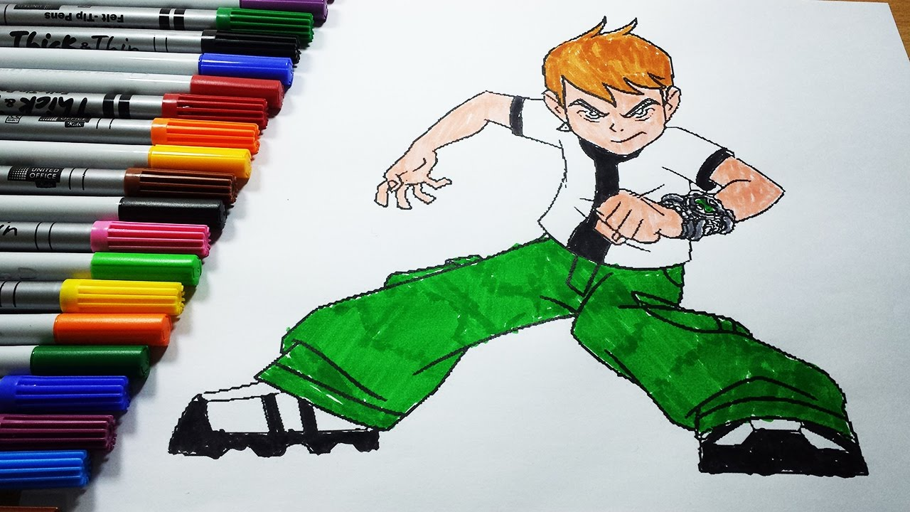 Ben 10 Coloring Pages - Ben 10 Coloring Book Learning Colors For ...