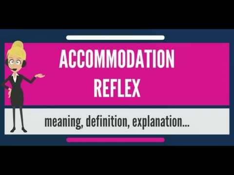 What is ACCOMMODATION REFLEX? What does ACCOMMODATION REFLEX mean? ACCOMMODATION REFLEX meaning