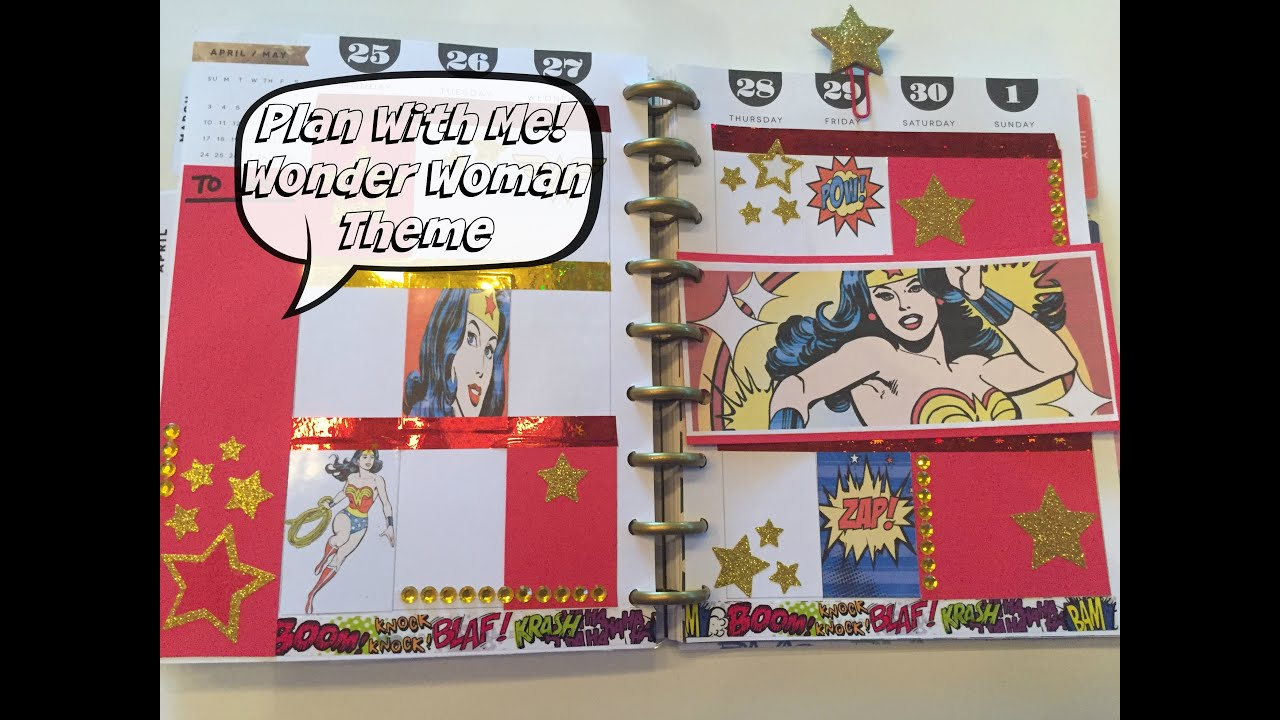 Plan With Me | Happy Planner | WONDER WOMAN THEME