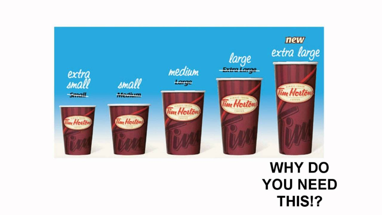 Tim Hortons' Cup Sizes - A Dose of Buckley - YouTube