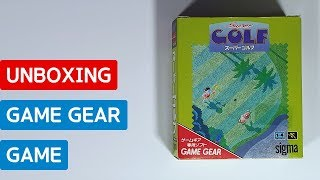 Super Golf (GAME GEAR, Japan) - Unboxing