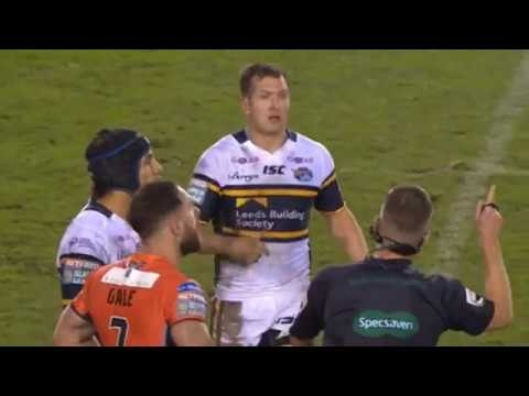 """Referee Ben Thaler """"Play with it at home"""", as drone flies over stadium. [Castleford vs Leeds '17]"""