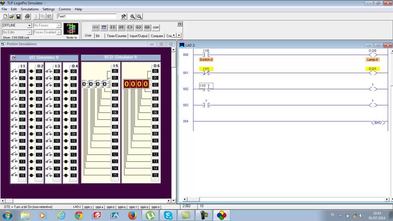 plc simulator rslogix relay logic instructions youtube