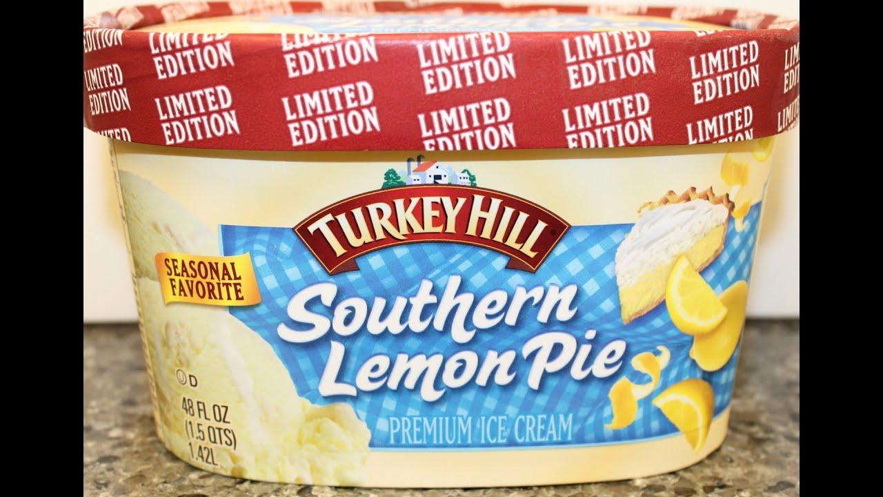 Turkey Hill Southern Lemon Pie Ice Cream Review YouTube