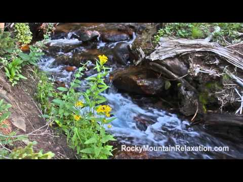 8 HOURS Relaxing Nature Sounds - Gentle Mountain Stream - Meditation-White Noise