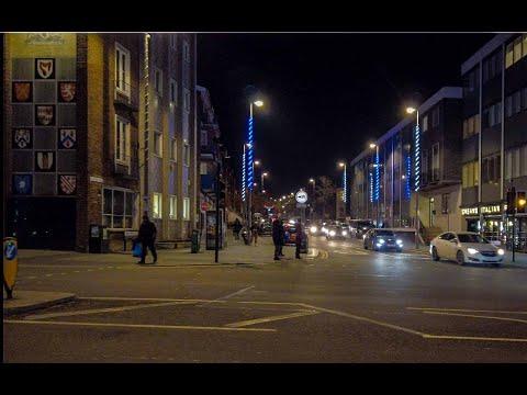 Evening Walk On High Street And Hoe Street Walthamstow
