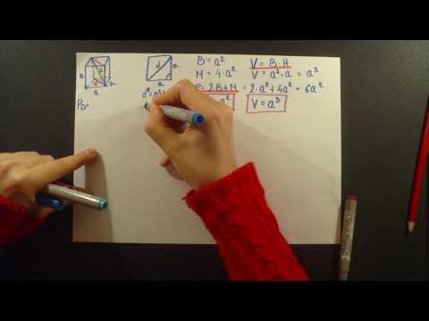 Prizma | Kocka i kvadar | Formule | Kako izvesti sve potrebne formule za resavanje zadataka