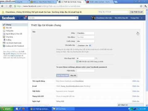 cách đổi tên trên facebook mới nhất hd720