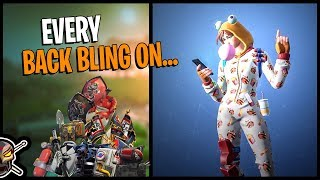 Every Back Bling on ONESIE - Fortnite *SEASON 7 BATTLE PASS*