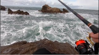 How to Catch Fish From These MAD Waves!! Let's All Fish Safely.