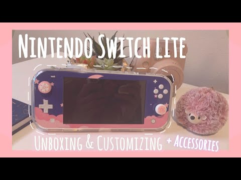 customizing-yellow-nintendo-switch-lite-|-cute-&-satisfying*