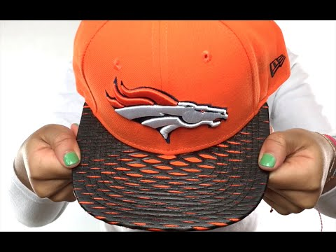 Broncos  NFL LEATHER-RIP SNAPBACK  Orange-Black Hat by New Era - YouTube 0c19f160a