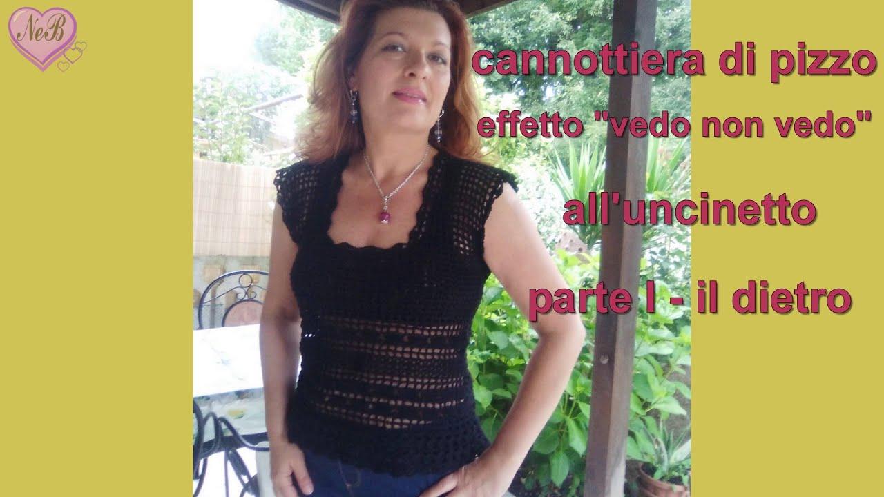 Canottiera Di Pizzo Alluncinetto Facile Parte 1 Crochet Top For