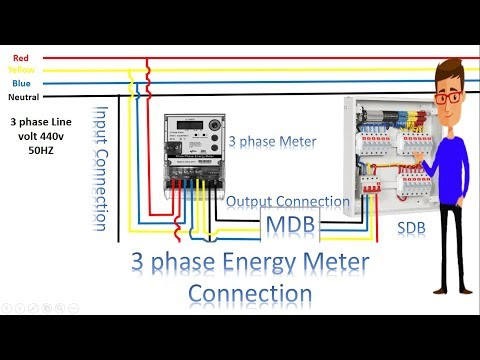3 phase energy meter connection | 3 phase meter by earthbondhon - youtube