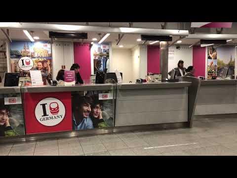Ticket Desk At Brussels Midi International Train Station