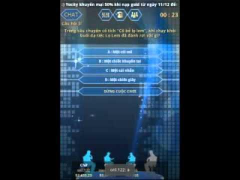 Game Ai là triệu phú online trên Android