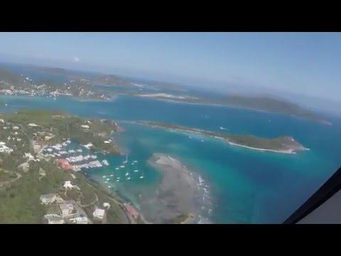 Landing at Beef Island,Tortola,BVI