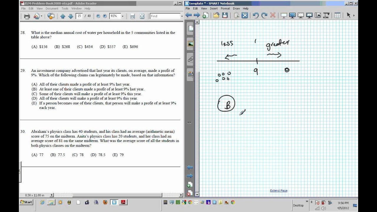 ELM EAP EPT math Test practice questions part III 21 40 - YouTube
