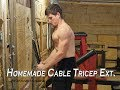 Homemade DIY Cable Pully Machine | Tricep Extensions