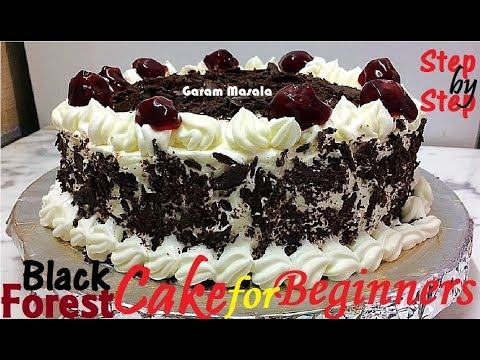Black Forest Cake ബ്ലാക്ക് ഫോറെസ്റ്റ് കേക്ക് Step by Step Instructions for Beginners