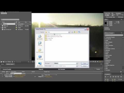 After Effects BASICS - Video Exportieren, Richtig Rendern (Deutsch)