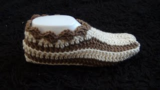 How to Crochet Slippers Pattern #1026│by ThePatternFamily