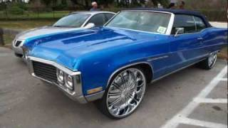"""1970 CANDY BLUE BUICK ELECTRA VERT ON 26"""" RIMS!!"""