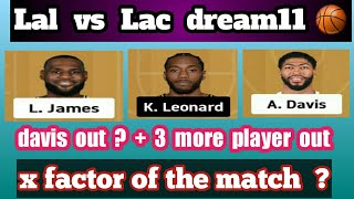 LAL vs LAC Dream11 | LAL vs LAC | LAL vs LAC Dream11 Team | DREAM11 NBA TEAM