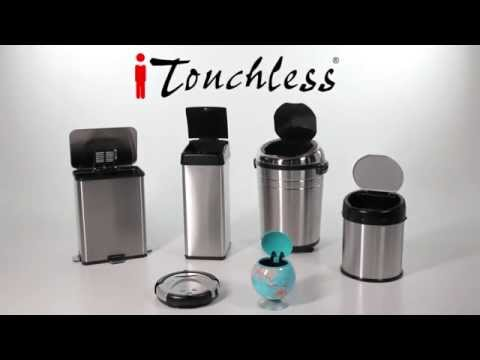 iTouchless MX model Automatic Sensor Trash Can - Live Presenting