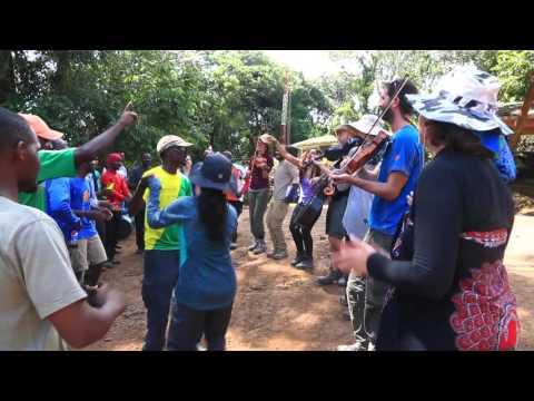 Chura and Jambo with the staff, Kilimanjaro, Mweka Gate