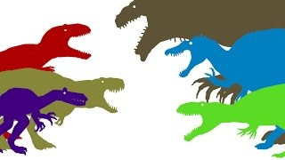 Dinosaurs Cartoons. Dinosaurs Battles Compilation part 2 DinoMania. Динозавры Мультфильм