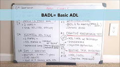 OT Adult ADL Assessments // AMPS Kleinbell FIM Barthel CPT RTI