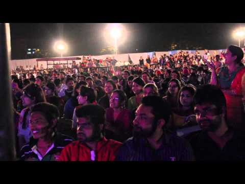 Jaz Dhami singing zulfa at panjab university 2014