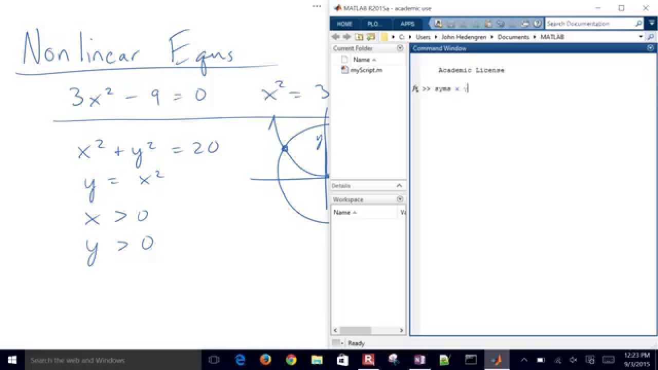 Solve Nonlinear Equations with MATLAB