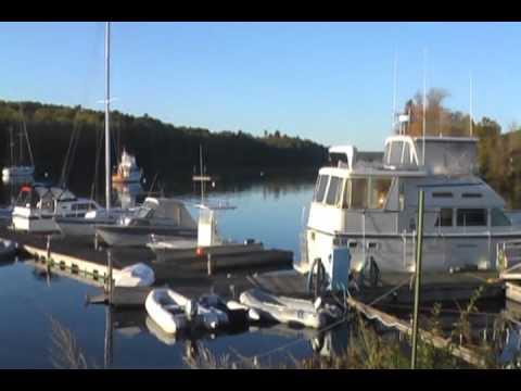 The Boatyard at Hamlin's Marina on the Penobscot River