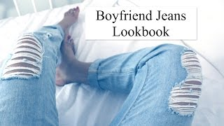 Boyfriend Jeans Lookbook ( 5 looks)