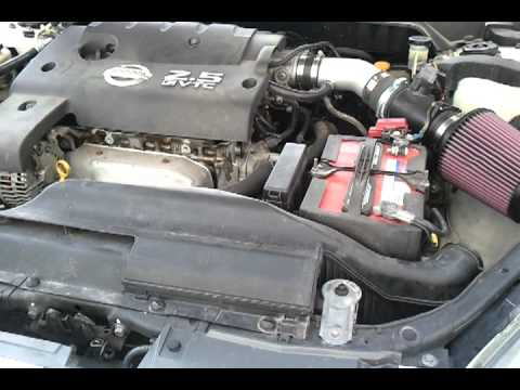 Nissan Altima 2.5S >> 2002 Nissan Altima 2.5 K&N Cold Air Intake - YouTube