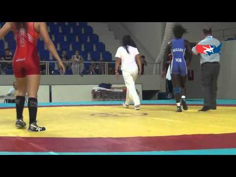Cadet World W - Alo (USA) pin Bullen (NOR), 56 kg bronze bout